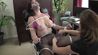 Lez Slut Boss - Bondage MILF Video
