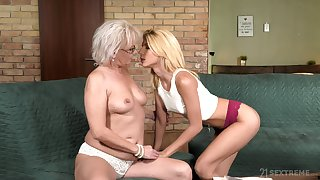 Granny is still energized enough to pull some serious lesbian scenes