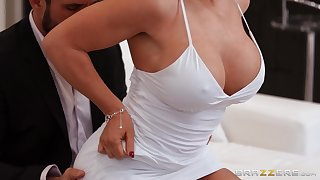 Full hard action for the busty woman with insane fuck skills