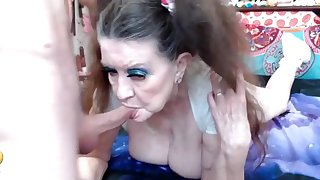 Old Granny Gets Ass Fucked With Cum