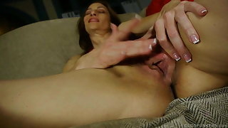 Kinky cougar talking dirty and fucking her soaking wet pussy