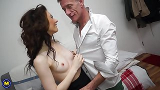 Hardcore one greater than one action at hand mature Sophie J. devoted his cock
