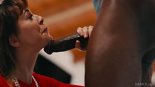 MILF bombshell slut Cherie Deville pounded by a black guy hardcore