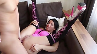 He Caught red-hot Step-Mom wank and pulverize her ass-pulverize sex tube