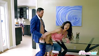 Libidinous chick Christian Humanity seduces her stepfather Johnny Castle