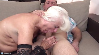 Taboo sex alongside OLD granny aka GILF