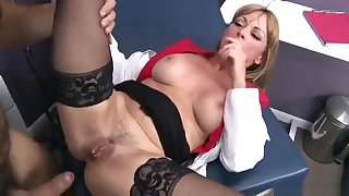 Unbelievable breasty mom Shayla LeVeaux opera house in real medical XXX video