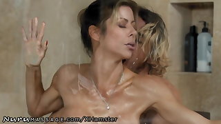 Son Caught Step-Mommy Alexis Fawx Active at Nuru Massage!