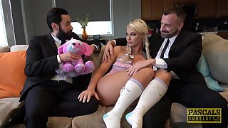 Blonde slut London River likes to fuck in front of her husband