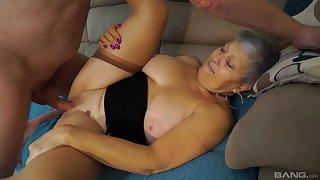 Buxom BBW granny Savanna missionary fucked hardcore