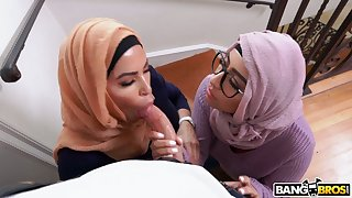 Two big bottomed Arab wives are cheating on husband with hot blooded Sean Lawless