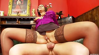 Office lady tries the new guy for a few rounds of sex