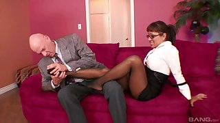 Amazing ass mature Jasmine Lopez fucked from behind by her boss