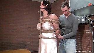 Karol Lilien & Ar in Cindy Gets Hogtied, Cleavegagged, And Stripped - KINK