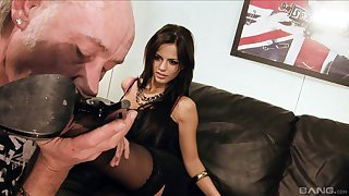 Amazing group sex party with cum loving Britney and Black Angelica
